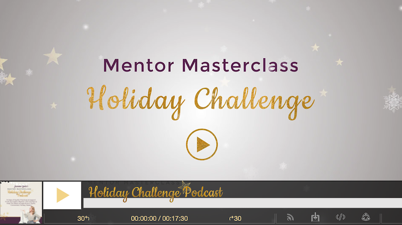 holiday challenge podcast leader